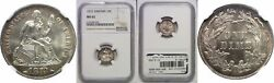 1873 10c Seated Liberty Dime Arrows Ngc Ms-65