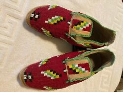Native American Indian Beaded Moccasins