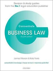 Business Law Concentrate, Marson, James Principal Lecturer In Law, Sheffield Ha