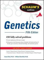 Schaumand039s Outline Of Genetics Fifth Edition By Elrod Susan English Paperback B