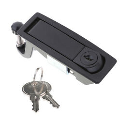 Black Rv Boat Trailer Entry Lever Lock Latch With Keys For Southco C2-32-25