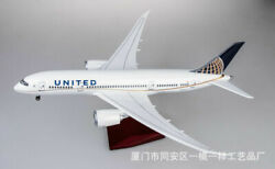 1/130th 43cm United Airlines Boeing 787 Passanger Airplane Resin Plane Model Toy
