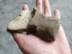 Viking Decorated Brooch Clay Mould