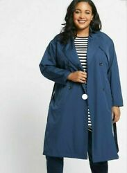 Mands Curve Lightweight Belted Trenchcoat With Stormwear Size 28 Bnwt