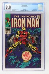 Iron Man 1 - Marvel 1968 Cgc 8.0 Story Continued From Iron Man And Sub-mariner 1