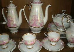 Antique Porcelain Service Package Coffee Shop Large Tableware Cup Saucer 1970s