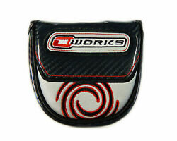 Black Odyssey O-works Mallet 2-ball Putter Head Cover Magnetic Closure Glossy Uk