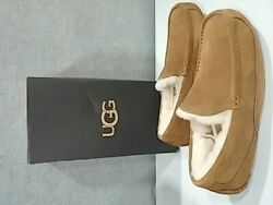 New Ugg Australia Mens Ascot Suede Closed Toe Slip On Slippers, Chestnut, Size 9