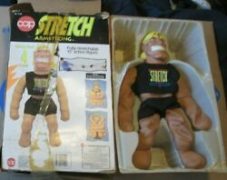 Vtg Stretch Armstrong Stretchable 15 Action Figure Toy 1992 Cap, In Damaged Box