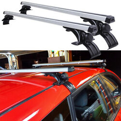 Unversal 48 Car Top Roof Rack Cross Bar Luggage Bicycle Cargo Carrier Aluminum