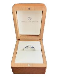 Brilliant Earth .30 Ct. Diamond W/sapphire Platinum Band Willow Engagement Ring