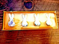 Brand New Sealed Silver Bunny Shaped Place Card Holders Crate And Barrel