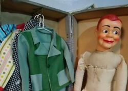 1950s Jerry Mahoney Paul Winchell Ventriloquist Dummy Extra Head Suitcase