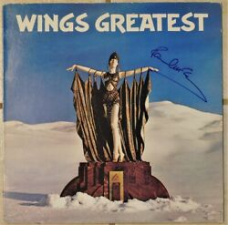 Paul Mccartney Signed Autographed Wings Greatest Album Caiazzo Loa