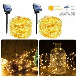 Led Solar String Lights Fairy Cooper Waterproof Garland Wire Party Decoration