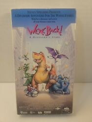 We're Back Vhs Used Movie Vcr Cartoon Slip Case