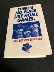 1989 Cleveland Indians Baseball Pocket Schedule John Qandrsquos Bar And Grille Version