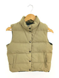 Engineered Garments Brand Down Vest Polyester Khaki Menand039s Wear New With Tags