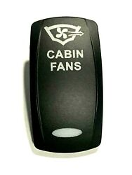 Carling Cabin Fans White Lighted Rocker Switch Cover Black