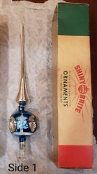 Shiny Brite Christmas Tree Topper 10 Mercury Glass With Triple Indents