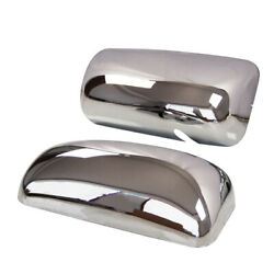 Chrome Door Mirror Covers Right Left Pair For Kenworth T660 T800 T370 T470
