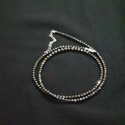 Black Spinel Beaded Necklace In 925 Silver Gifts For Christmas Beaded Necklace.