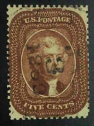 Momen Us Stamps 28a Indian Red Used Lot 72832
