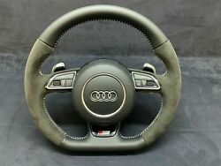 Audi A4 Q5 S-line Leather Steering Wheel Paddles Shift 8k0419091