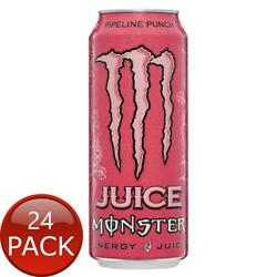 24 X Monster Energy Punch 500ml Juice Drink Can Pipeline Non Alcoholic Beverages