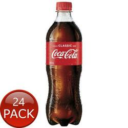 24 X Coca Cola Classic 600ml Coke Bottled Soda Soft Drinks Party Thirst Quencher