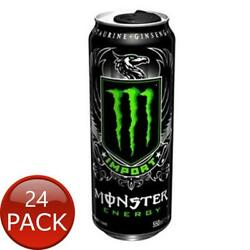 24 X Monster Energy Resealable Import 550ml Can Flavoured Soda Beverages Drink