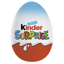 24 X Kinder Egg Surprise Blue Imbutito 20g Chocolate Sweets Snack Confectionery
