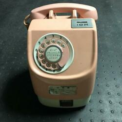 Publlic Payphone 10 Yen Pink Telephone Rotary Dial Expedited Ship