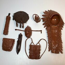 Lot Of Chief Cherokee Accessories From Johnny West Best Of The West Vtg Marx