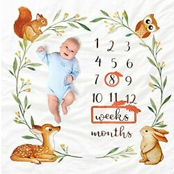 Oerich Baby Monthly Milestone Blanket Perfect Baby Girl Gifts And Baby Boy