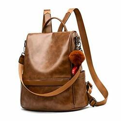 Women Backpack Purse PU Leather Anti theft Casual Shoulder Bag Fashion $30.20