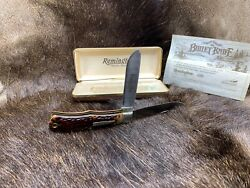 1982 Remington R1123 Bullet Trapper Limited Edition Knife And Coa Mint In Box +