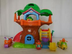 Weebles Wobble Musical Treehouse + Frog Dog Chair Scooters + Weeble Playskool