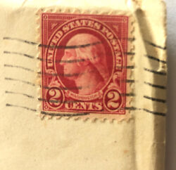 George Washington Red 2 Cent Stamp 1918 - Rare And In Good Condition