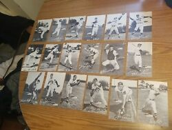 1954 Spic And Span Dry Cleaning Milwaukee Braves 18 Postcard Set Hank Aaron Rookie