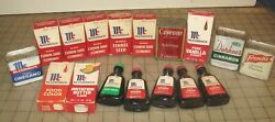 17 Vintage Spice Tins/boxes And Bottles - Mccormick, Durkee, Schilling + Nice Lot