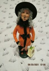 Byers Choice 2021 Halloween Witch With Brolly Umbrella🎃🎃🎃🎃🎃