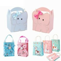 Dessert Bags Elephant Paper Candy Gift Box Baby Shower Party Favors Decoration $16.52