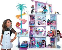 Lol Surprise Omg House Of Surprises - New Real Wood Doll House W/ 85+ Surprises