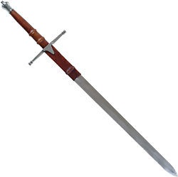 Whetstone Cutlery William Wallace Medieval Sword With Sheath Silver