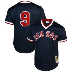 Boston Red Sox Ted Williams 9 Mitchell And Ness 1990 Authentic Mesh Bp Jersey
