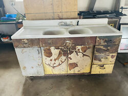 1950's Vintage Steel Sink/cabinet. Youngstown Kitchen By Mullins