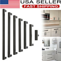 Square Bar Cabinet Pull Drawer Handle Stainless Steel Modern Kitchen Hardware Us