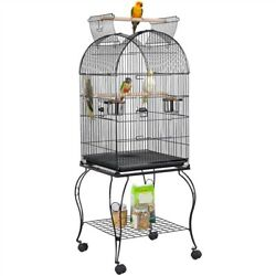 59 Open Top Medium Bird Cage For Parrot Conure Cockatiel Bird Cage With Stand
