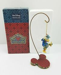 Disney Very Rare Jim Shore Traditions Donald Duck Donald With Lights With Stand